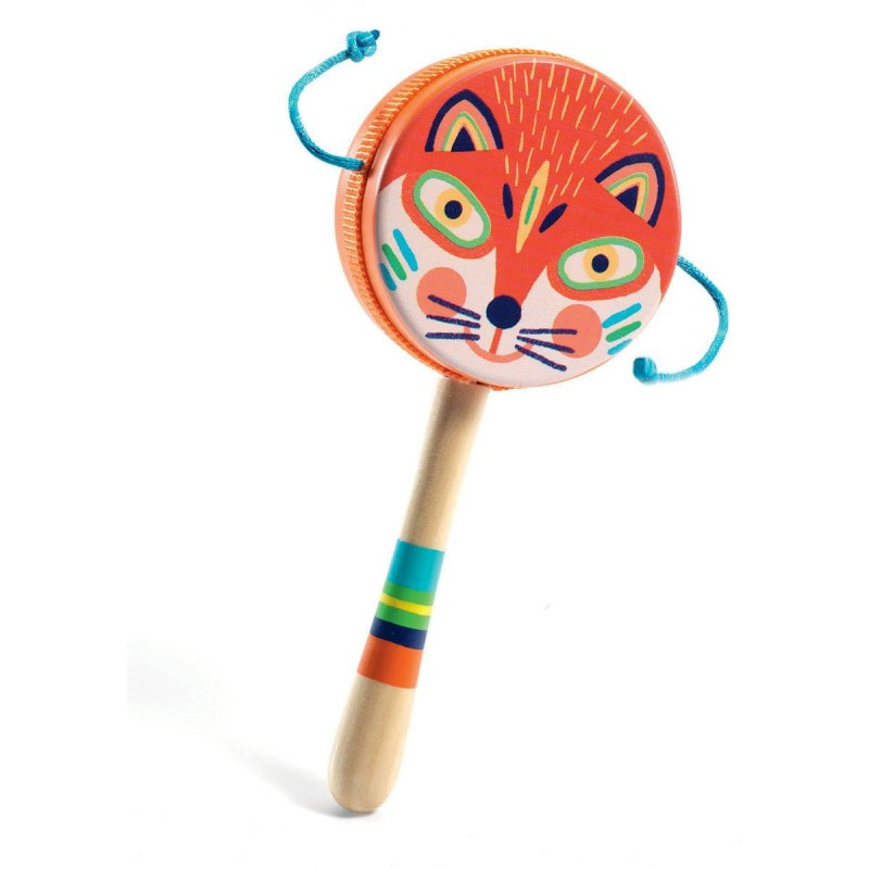 Djeco Bębenek z rączką zabawka muzyczna dla dzieci od 4 lat