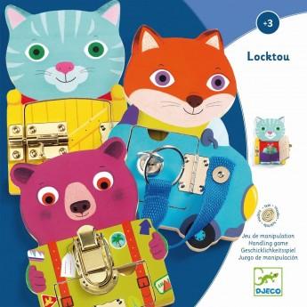 Djeco Locktou zabawka zręcznościowa z zamkami +3