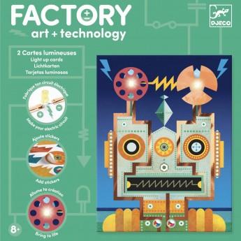 Djeco Factory zestaw Świecące Obrazki Cyborgi +8