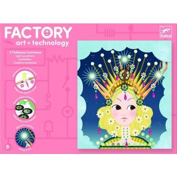 Djeco Factory zestaw Świecące Obrazki Korony +8