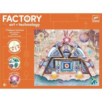 Djeco Factory zestaw Świecące Obrazki Odyseja Kosmiczna +8