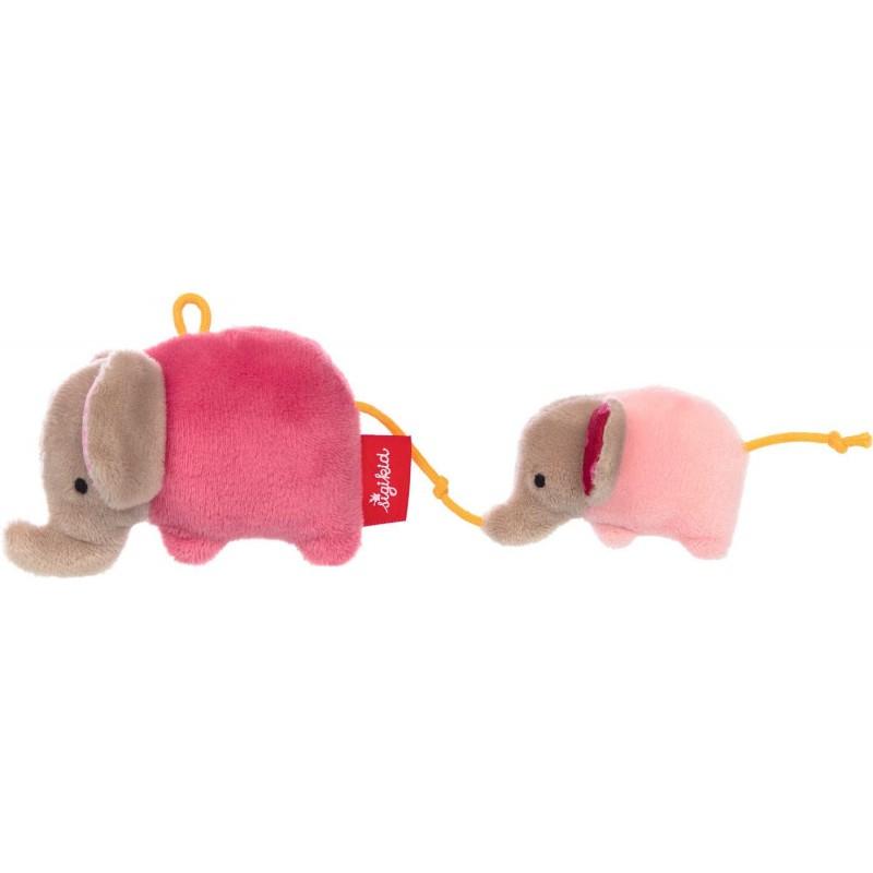 Sigikid Grzechotka dla niemowląt Słoń różowy