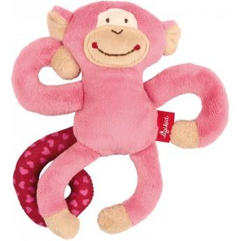Sigikid Zawieszka Małpka Różowa zabawka dla niemowląt