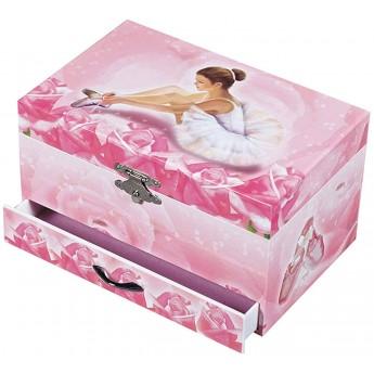 Szkatułka z baletnicą, pozytywką i szufladką, Trousselier
