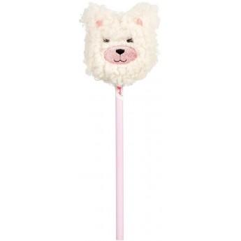 Ołówek z pomponem Biały Misiek, różowy, Souza!