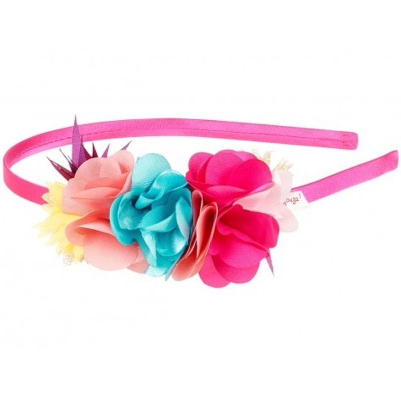 Opaska do włosów dla dziewczyn Fleurine z kwiatami, Souza!