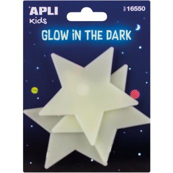 Apli Kids 3 duże gwiazdy świecące w ciemności naklejki ścienne