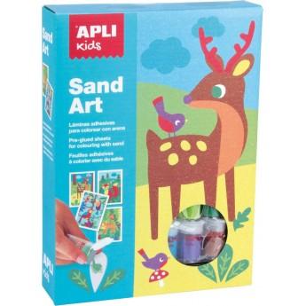 Apli Kids Zestaw artystyczny z piaskiem Zwierzęta dla dzieci +4