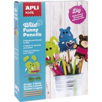 Apli Kids Zestaw artystyczny do szycia Dzikie Zwierzęta