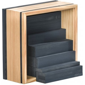 Kapla 40szt ciemnoniebieskie drewniane klocki deseczki