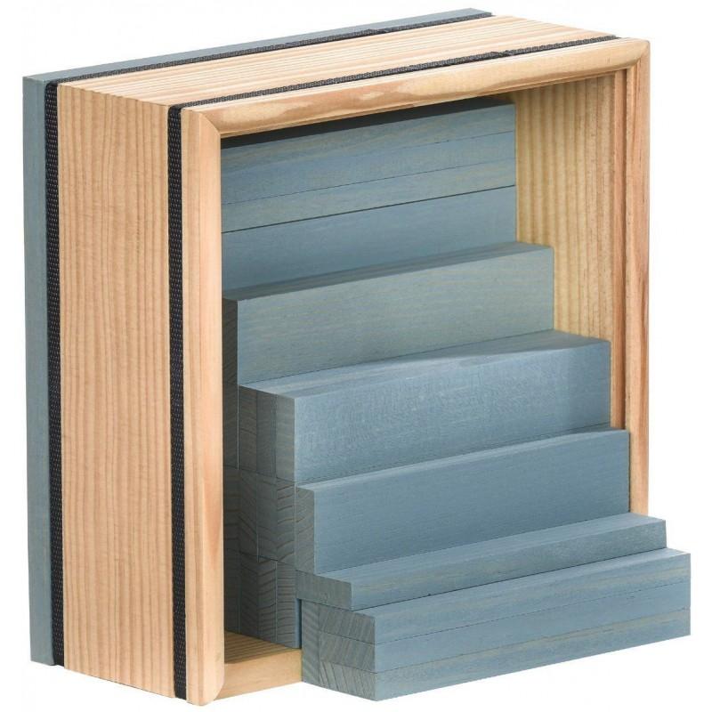 Kapla 40szt jasnoniebieskie drewniane klocki deseczki