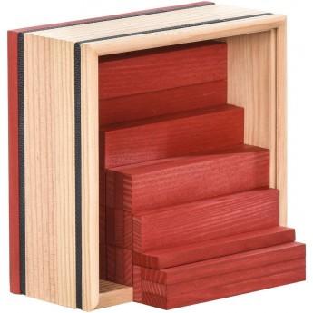 Kapla 40szt czerwone drewniane klocki deseczki
