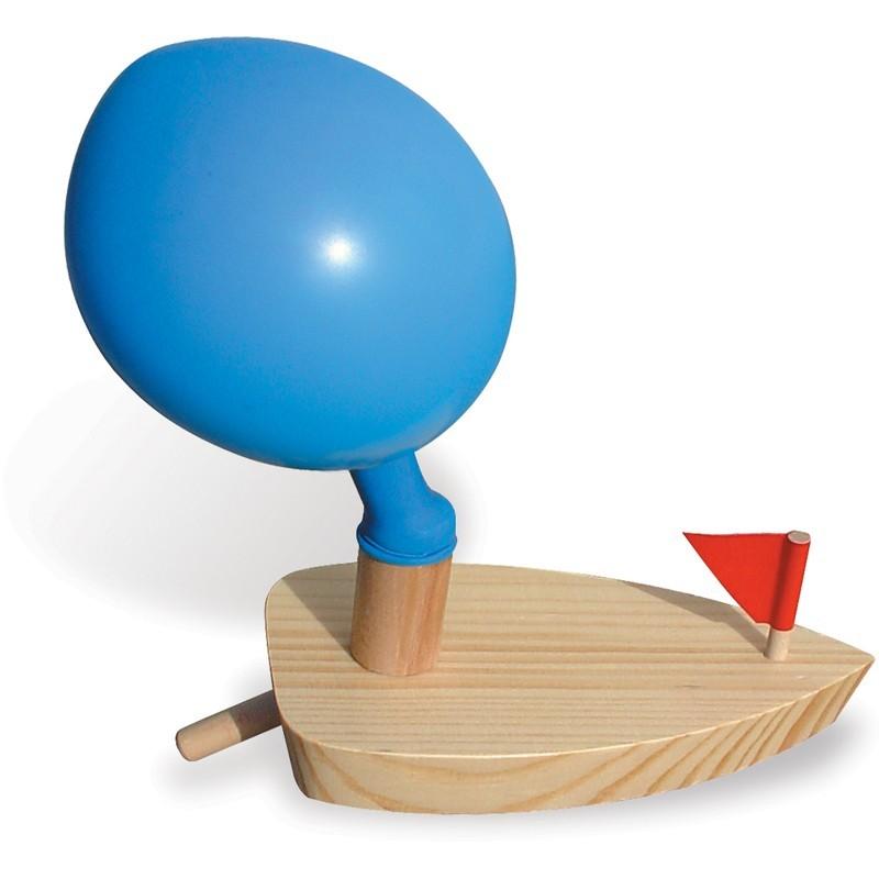 Motorówka drewniana z balonikiem, Vilac