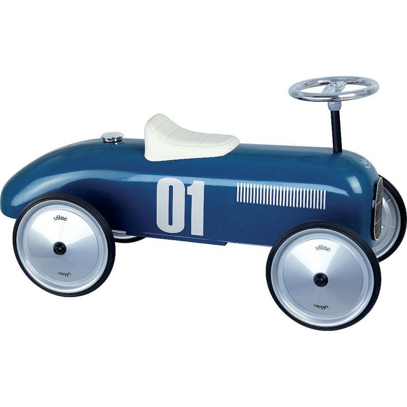 Vilac Jeździk niebieski vintage dla dzieci od 18mc metalowy