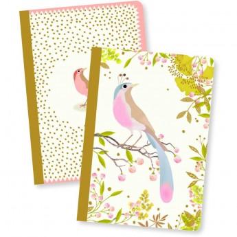 Djeco Komplet 2 notesików Tinou 40 kartek dla dzieci