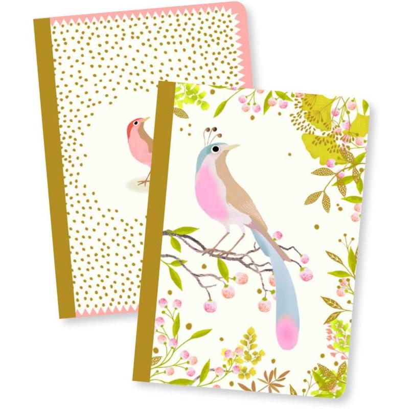 Djeco Komplet 2 notesików Tinou 48 kartek dla dzieci
