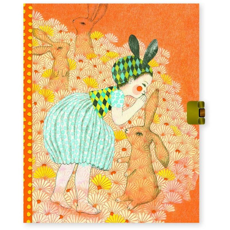 Djeco Sekretny pamiętnik na klucz Elodie dla dzieci