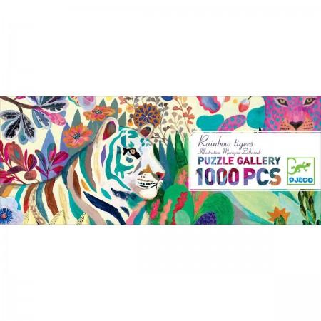 Djeco Puzzle tekturowe Rainbow Tigers 1000 elem. dla dzieci +9