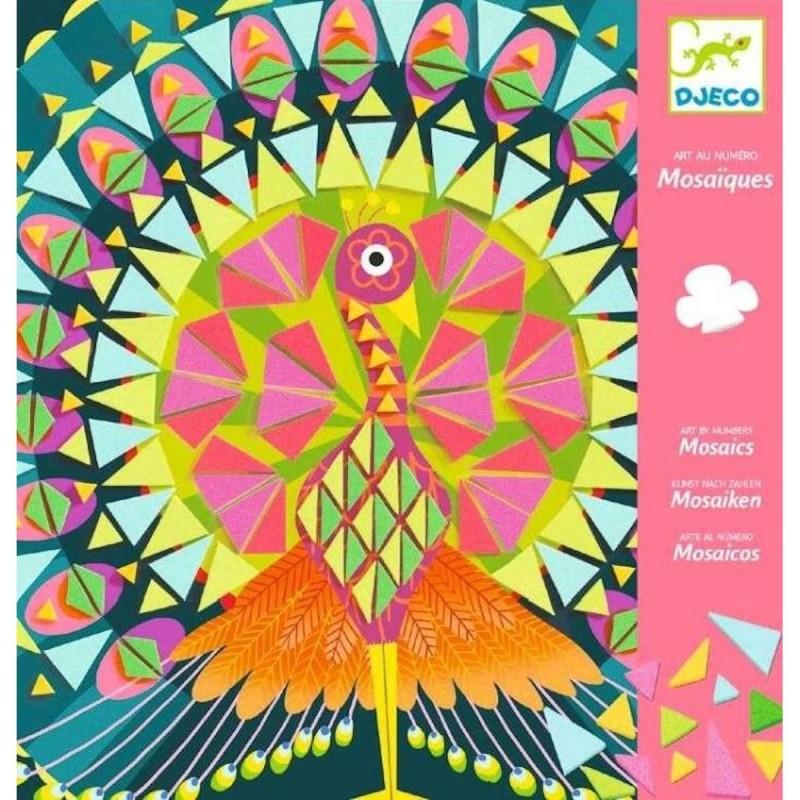 Djeco mozaiki piankowe Paw i Sowa dla dziewczyn +4