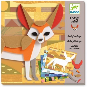 Djeco Kolaże piankowe Dzikie Zwierzęta dla dzieci +6