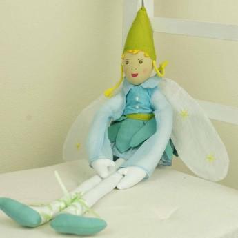 Lalka haftowana Elf dziewczynka wróżka 60 cm, L'Oiseau Bateau