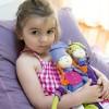 Lalka haftowana Wróżka pomarańczowa szmaciana lalka dla dzieci