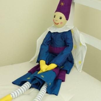 Elf granatowo-fioletowy lalka haftowana szmaciana dla dzieci