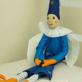 Lalka haftowana Elf Niebieski 60 cm, L'Oiseau Bateau