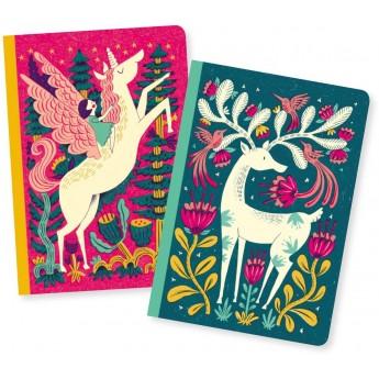 Djeco Komplet 2 notesików Melissa 48 kartek dla dzieci