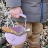 Konewka wiaderko pudrowy róż Scrunch dla dzieci +12 m