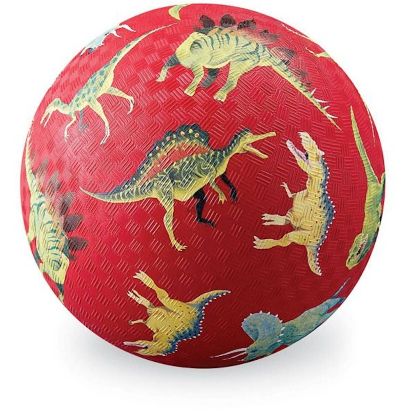 Piłka czerwona Dinozaury dla dzieci 13 cm, Crocodile Creek