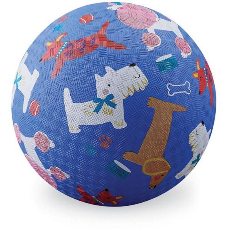 Crocodile Creek piłka niebieska Pieski dla dzieci 13 cm