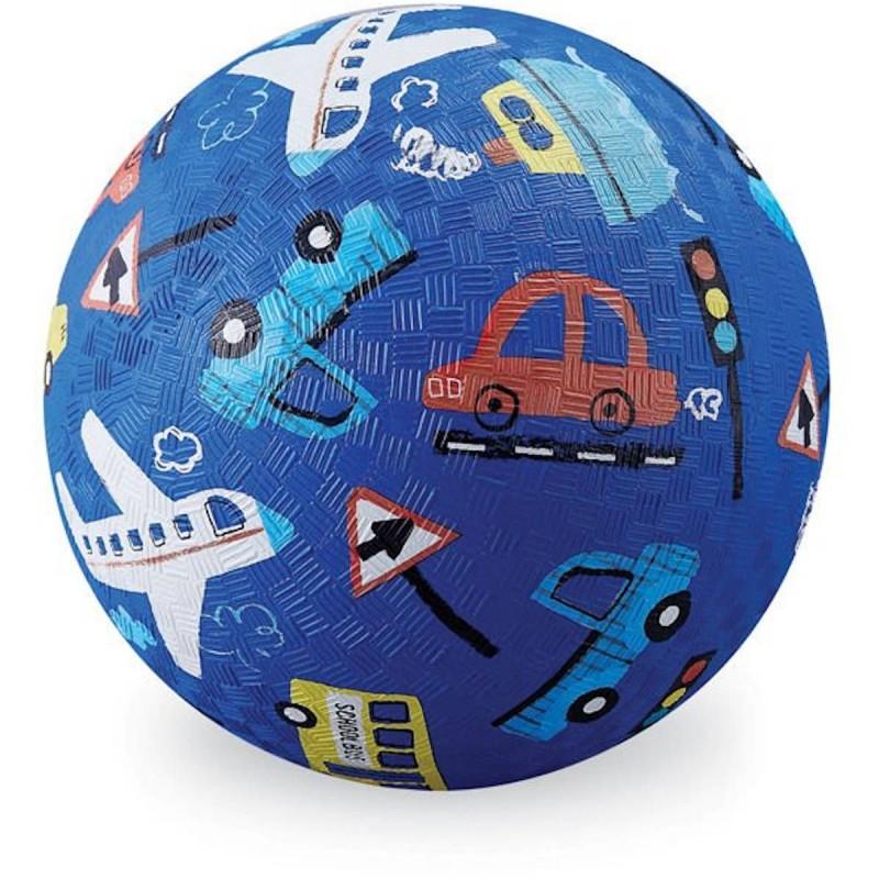 Crocodile Creek Piłka niebieska Pojazdy dla dzieci 13 cm