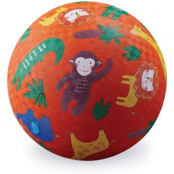 Crocodile Creek Piłka pomarańczowa Dżungla dla dzieci 13 cm