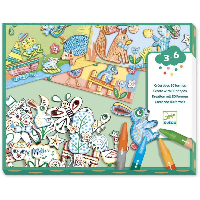 Djeco Pierwsze kolaże Świat Zwierząt dla dzieci +3 lat