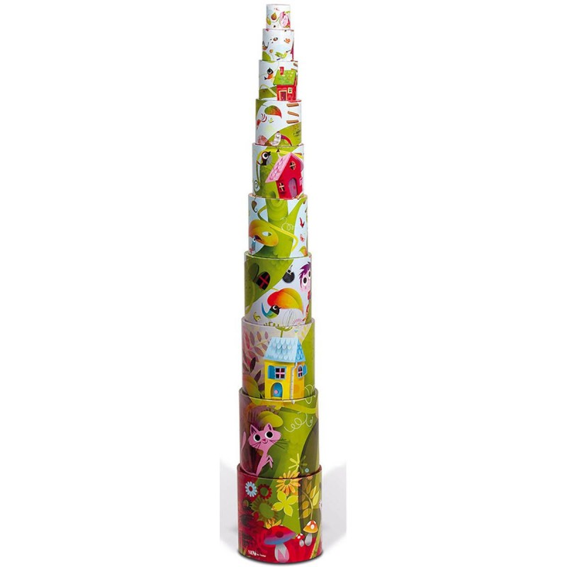 Piramida wieża 10 kostek Magiczne drzewo, Janod