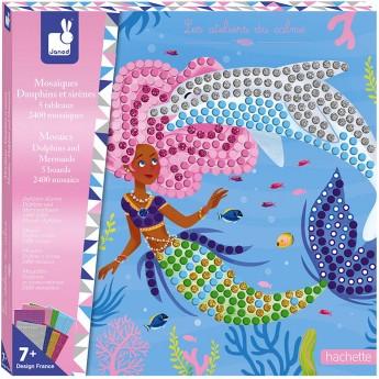 Zestaw kreatywny Mozaika Delfiny i syreny 7+, Janod