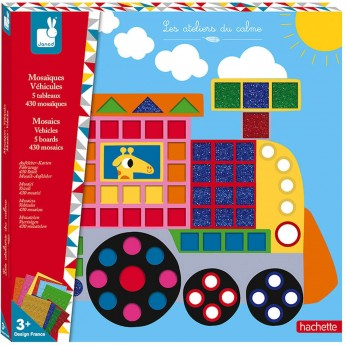 Janod Mozaika Pojazdy zestaw kreatywny dla dzieci +3