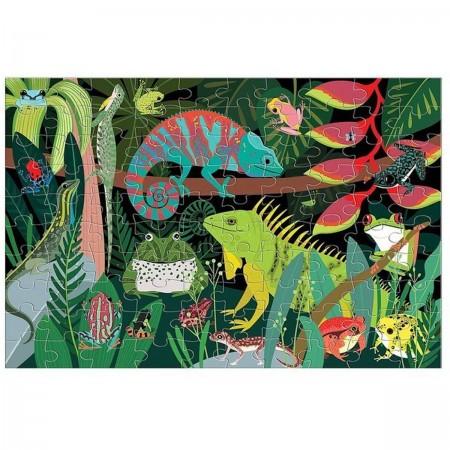 Mudpuppy Puzzle świecące w ciemności Żaby i jaszczurki 100 elementów 5+