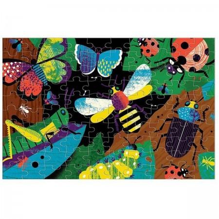 Mudpuppy Puzzle świecące w ciemności Insekty 100 elementów 5+