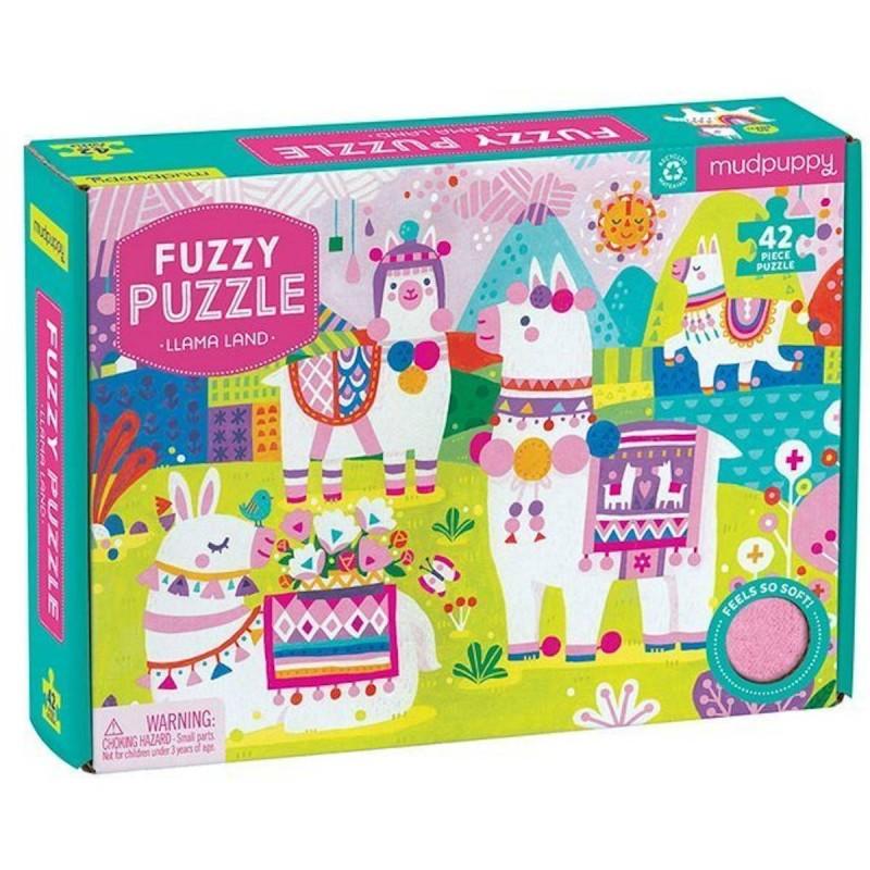 Mudpuppy Puzzle sensoryczne z miękkimi aplikacjami Lamy 42 elementy 3+