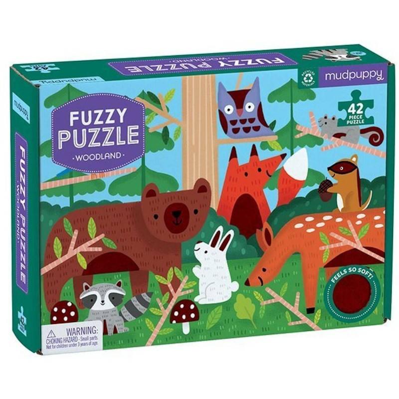 Mudpuppy Puzzle sensoryczne z miękkimi aplikacjami Las 42 elementy 3+