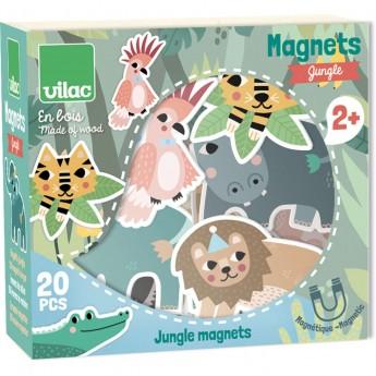 Vilac Magnesy drewniane Dżungla 20 sztuk dla dzieci od 2 lat
