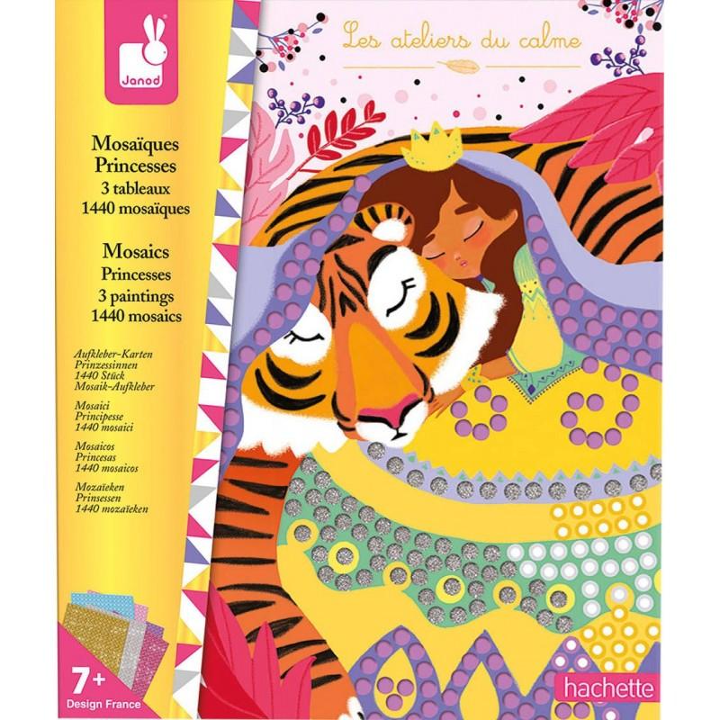 Zestaw kreatywny Mozaika Księżniczki 7+, Janod