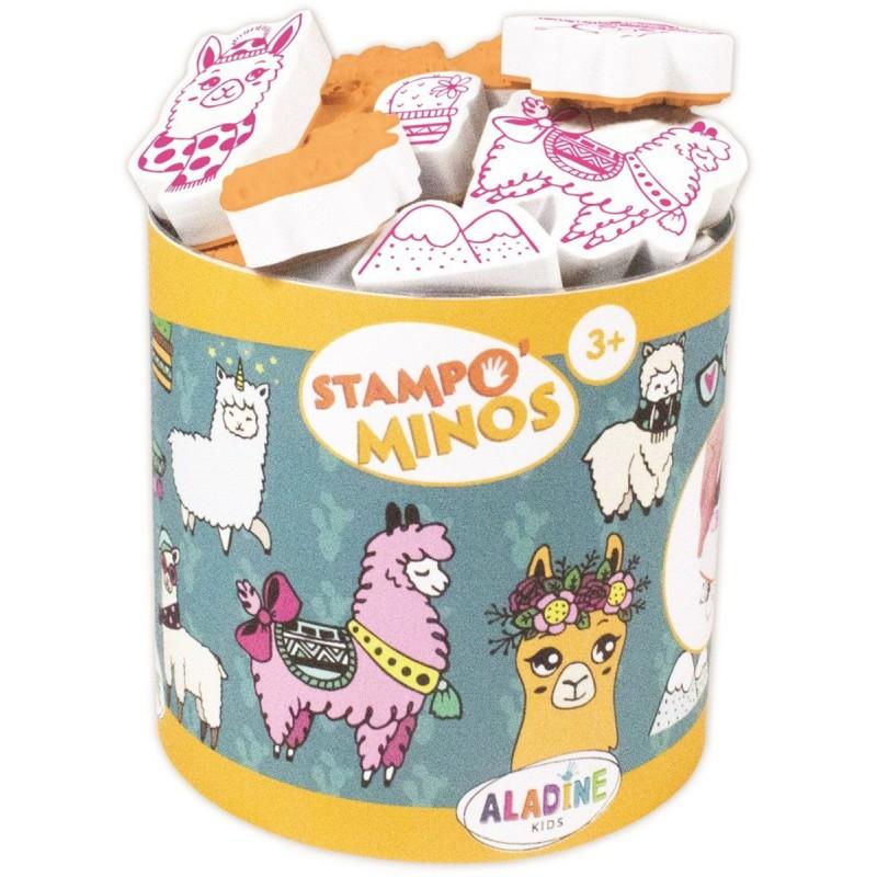 Aladine Stempelki piankowe dla dzieci +3 Lamy