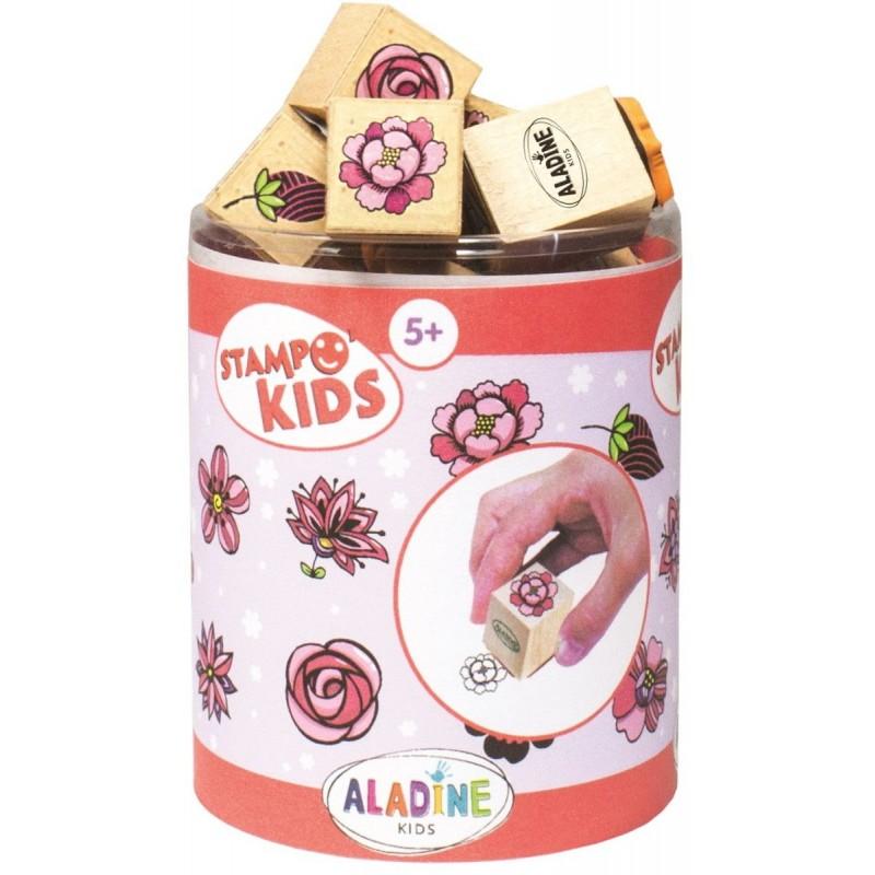 Aladine Stempelki drewniane +5 Kids Kwiaty