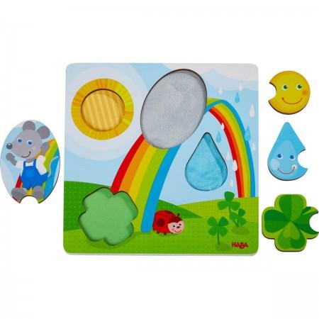 Haba Puzzle sensoryczne Myszka drewniane dla dzieci +1