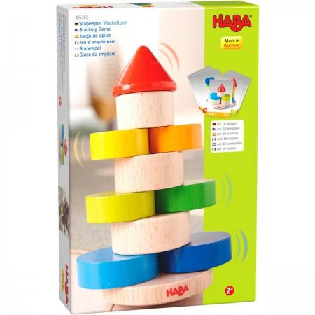 Haba Chybotliwa Wieża gra zręcznościowa drewniana +2