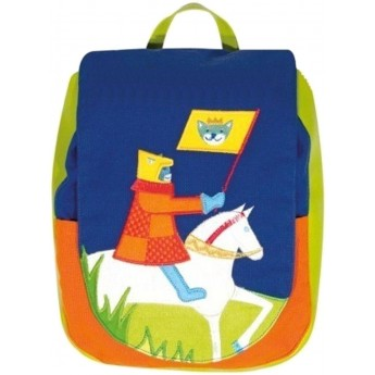Plecak dla dziecka 2 lata Kot Rycerz na Rumaku, L'Oiseau Bateau