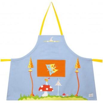 Fartuszek błękitny dla dzieci 2-4 lata do malowania, gotowania